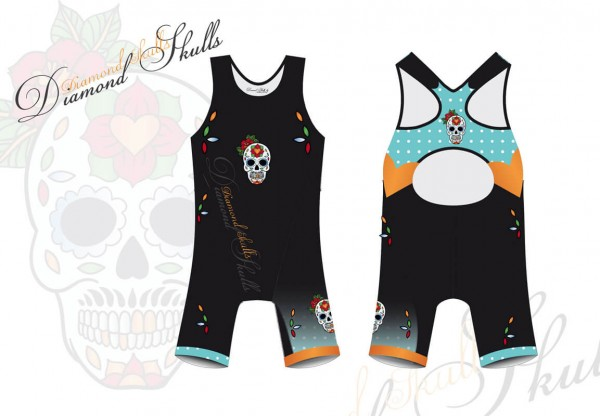 Diamond Skulls Tri Body Women
