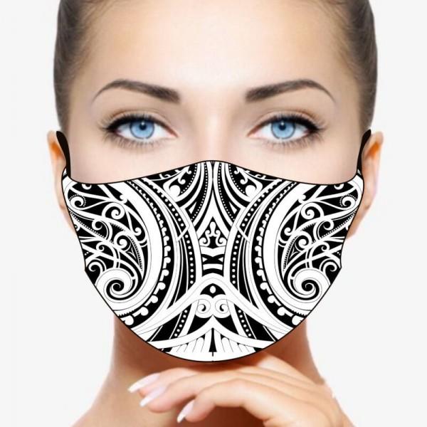 """Mund- und Nasenmaske """"Maori"""""""