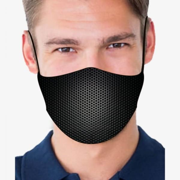 """Mund- und Nasenmaske """"Dimples Black"""""""