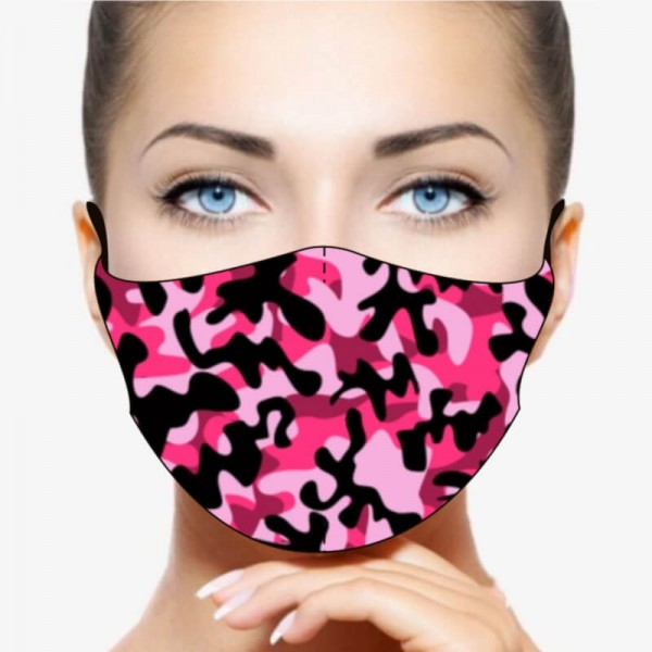 """Mund- und Nasenmaske """"Camo Pink"""""""