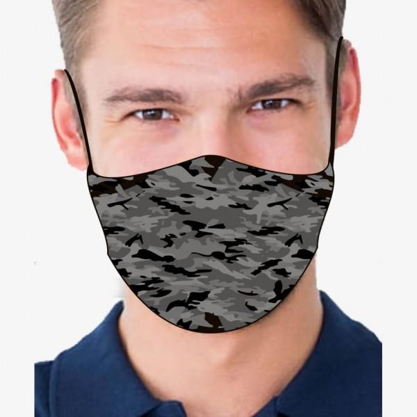 """Mund- und Nasenmaske """"Camo Grey"""""""